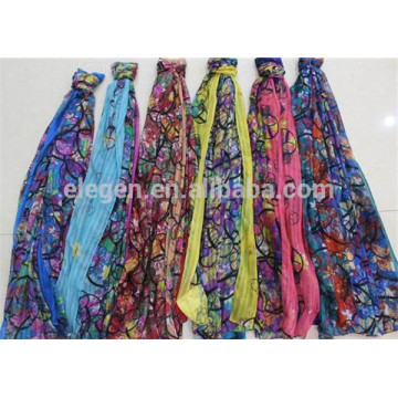 In Stock Polyester Circle Pattern Printed Scarf