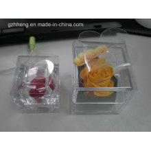 Caja de embalaje plástica de la vela cristalina de la flor (caja plegable)