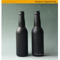 Topo qualidade rodada âmbar garrafa de cerveja de vidro colorido