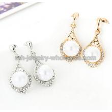 Boucles d'oreilles de forme animale Zinc allié Fashion perles strass