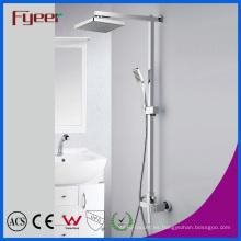 Fyeer Chromed Bathroom Brass Rainfall Shower Set (QH336-1)