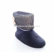 Atacado moda baixa saltos de borracha Boots neve mulher boot