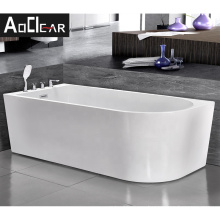 Aokeliya D shaped bathtub building cheap unit for the disabled people