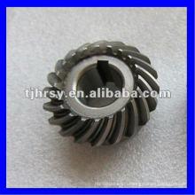 спиральн конического зубчатого колеса c45 сталь натурального цвета