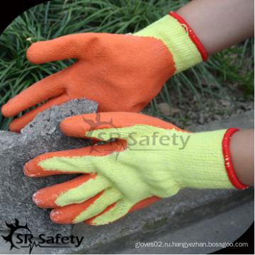 SRSAFETY дешевая цена / 10 г утилизация поликотта латекс с покрытием / рабочие перчатки / защитные перчатки