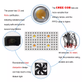 Luz de cultivo LED 4xCREE COB 2000W