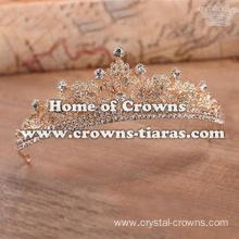 Baroque Classic Maple Leaf Crystal Wedding Tiaras