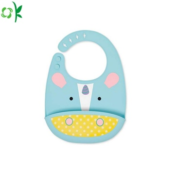 New Unicorn Oilproof Silicone Baby Bib for Meal