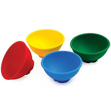 4 pedaços / set tigelas de cozinha de silicone, silicone mini pinch tigelas