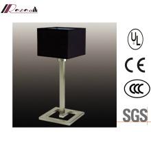 Modern Black Fabric Shade Bedside Table/Desk Lamp