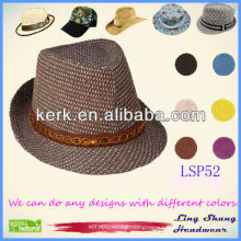 LSP52 Ningbo Lingshang Eco-Friendly Low Price Nice Ribbon 100% paper straw hat
