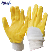 NMSAFETYnew product 100% cotton industrial rubber glove