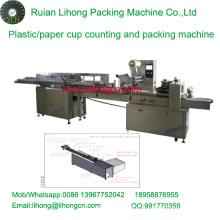 Lh-450 Copo de café descartável de uma única linha contador e máquina de embalagem