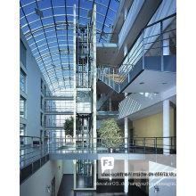 Top-Einkaufszentren Square Panoramic Glass Sightseeing Aufzug