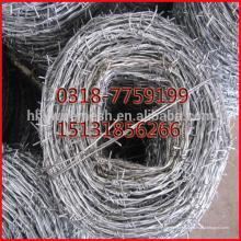 Arame farpado galvanizado de 2.0mm, fio da farpa, arame farpado espiral da exportação