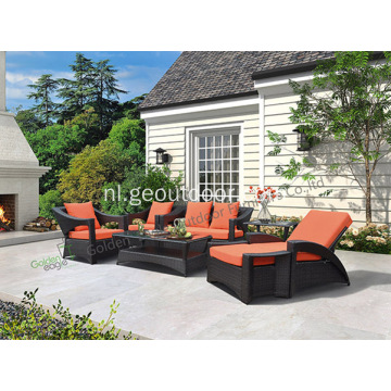 PE rieten meubelen Outdoor Patio rieten bank