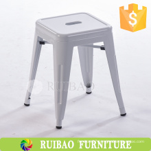 2016 Wholesale High Quality Modern Design Colorful Metal White Stackable Stool