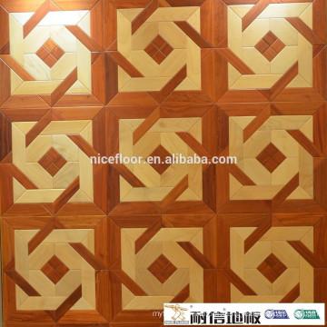 Solid wood parquet flooring