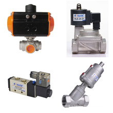 Q611F 3 pieces stainless steel air water thread pneumatic valve