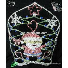 Los nuevos accesorios reales del rhinestone de los diseños venden al por mayor la corona de Papá Noel de la tiara