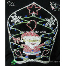 New designs rhinestone royal accessories wholesale tiara Santa Claus crown