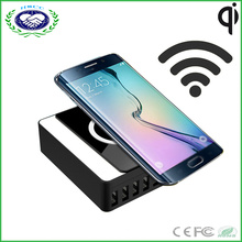 Station de recharge USB Mulit Port la plus chaude avec chargeuse USB sans fil de 8USB 60W 2.4A, chargeur de voyage haute vitesse