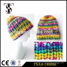 Sombrero del invierno de la manera para las muchachas gorras tejidas de punto coloridas del invierno de las mujeres