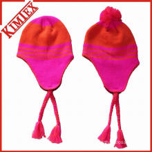 Winter Acrylic Knitted Jacquard Crochet Hat