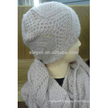 Acrylic Knitted Hat and Snood Sets