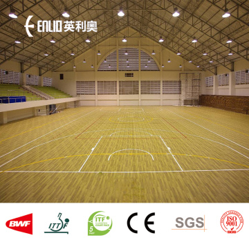 Lantai Indoor PVC Rolling Wood-like Basketball