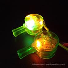 collier de sifflet lumineux