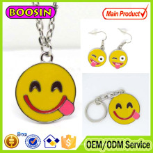 Personalized Alloy Smiley Lips Emoji Sign Language Pendant for Gifts