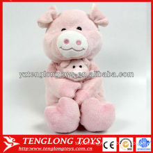 toy designer animal model mother and son plush toy