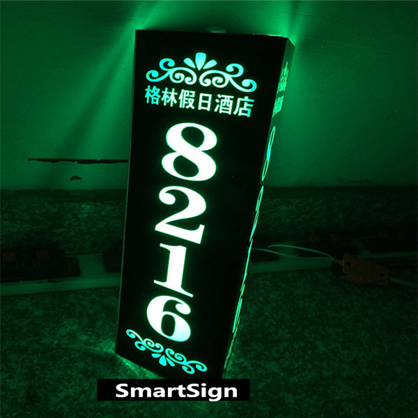 3D Custom Made Hotel Room Number Signs