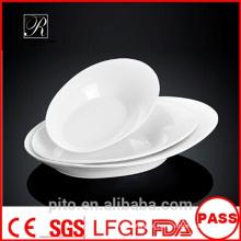 P & T placas de porcelana fábrica oval, placas de porcelana, placas brancas profundas