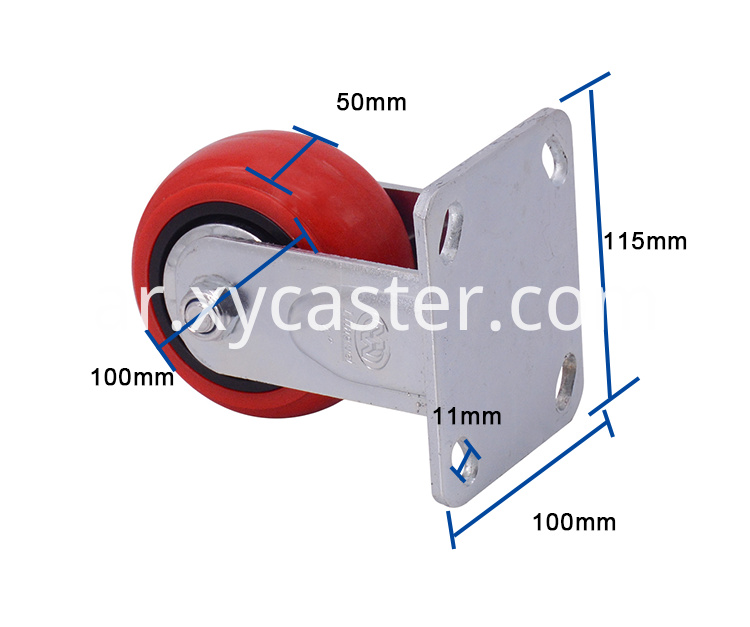 4 Inch Fixed Pvc Caster