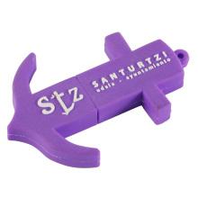 Impulsión del flash del USB de la forma del ancla púrpura con el llavero (EP017)