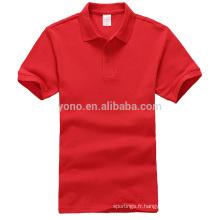 Stock servise coton matériel blanc en gros hommes polo shirt
