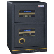 Metal duas portas de aço cheio banco cofre caixa de dinheiro cofre caixa de dinheiro seguro