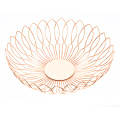New Manufacture Hot Selling Popular Gold Stainless Steel Wire Home Fruit Bowl Basket Kitchen  Storage