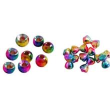 Diamant-Tungsten geschlitzte Perlen fliegen Bindung Dia5.5mm in Metallic-Orange Farbe