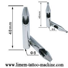 Le tatouage en plastique jetable stérile pré-fait par professionnel embout la pointe en acier inoxydable de stell