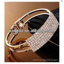 Moda bracelete pulseira folheados braceletes pulseira encantos
