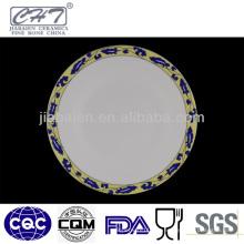 Bandeja decorativa de la porcelana de la alta calidad de A059