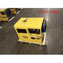 Generador diesel silencioso monofásico de la fase 50Hz / 5.5kw con ATS para el hogar y el uso del hotel