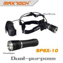 Phare et lampe de poche Maxtoch SP6X-10 1000 Lumen aimant double fonction Cree LED Headlight