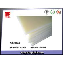 Placa material do nylon PA66 do Virgin da resistência de corrosão