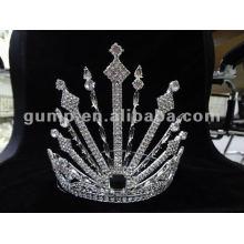 rhinestone large tiara crown
