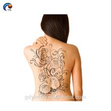 Autocollant complet de tatouage de dos de sexe d'hommes, tatouage de corps d'intima avec non-toxique