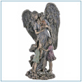 Life Size Bronze Angel Statue Mother and Her Children